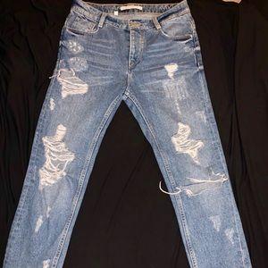 Zara Trafaluc Distressed Jeans